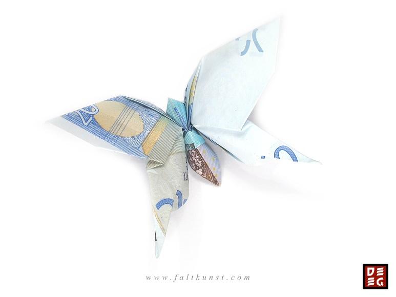 Pin Origami Geldschein Schmetterling Video Anleitung Handmade Kultur ...