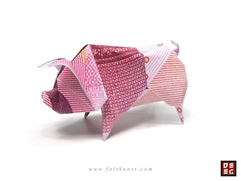 Origami Geld Scheine Pictures to pin on Pinterest